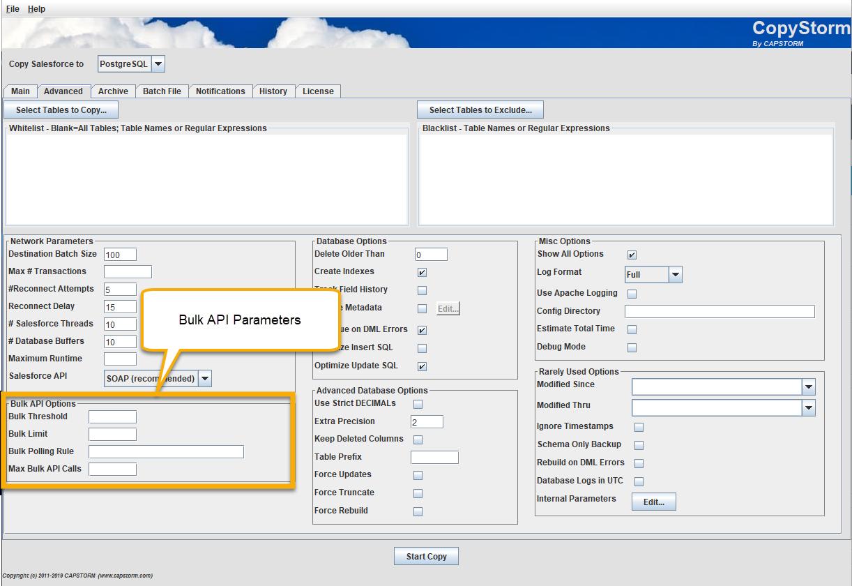 Bulk API Parameters - Capstorm Learning Center