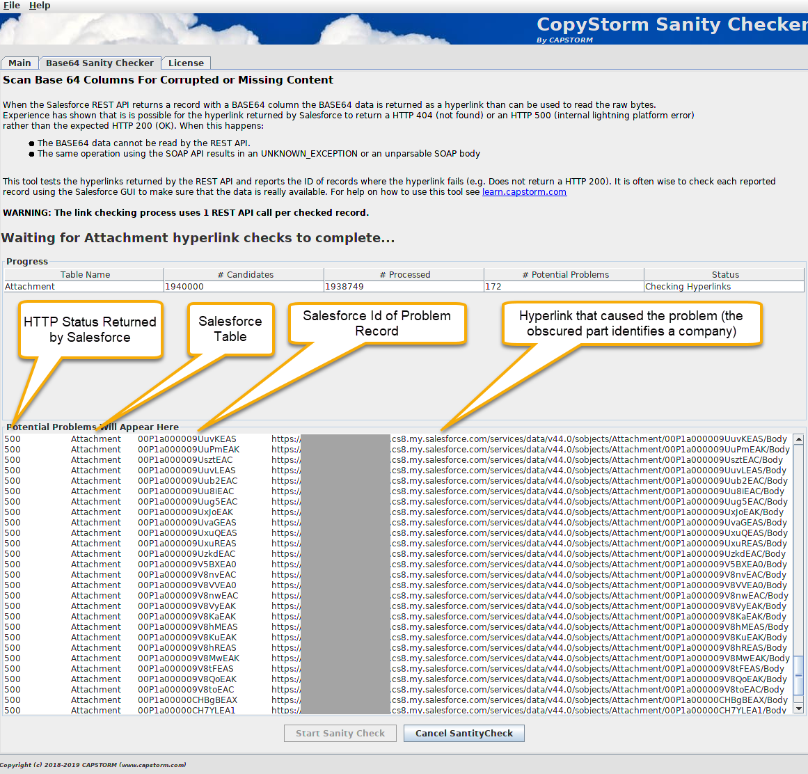 CopyStorm/SanityChecker - Capstorm Learning Center